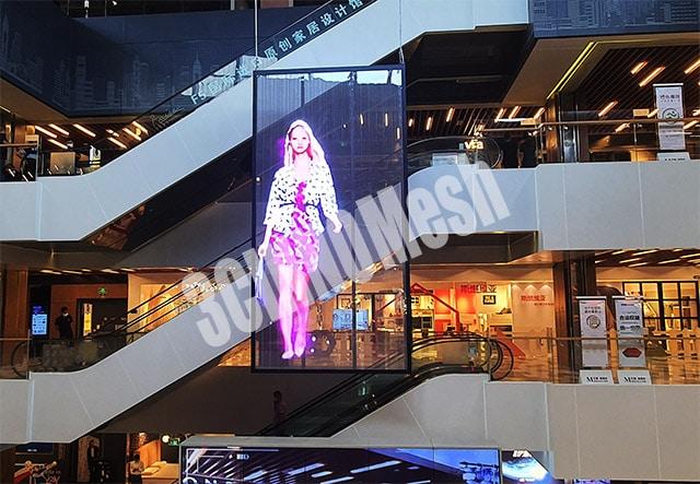 Transparent led mesh
